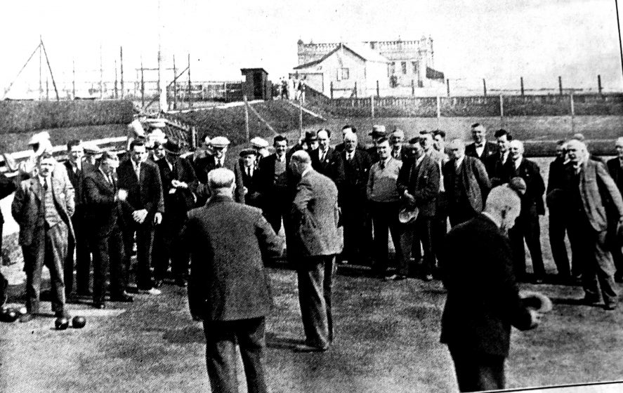 Stonehaven bowling green scene from 1933