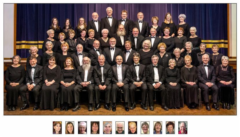 Formally set photograph of the choir