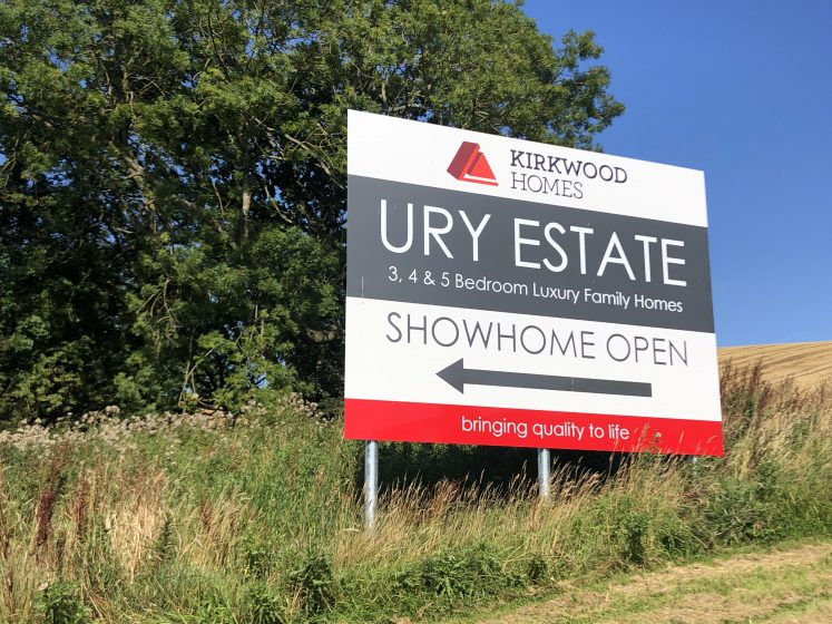 Billboard at Ury Estate