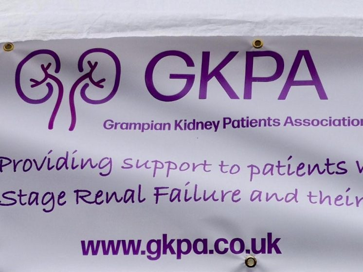 photo of Grampian kidney patients association banner