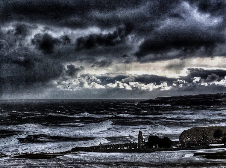 Dramatic image of storms at Cowie