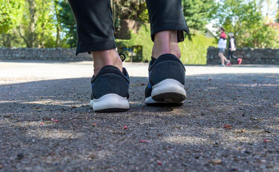 A runner's feet