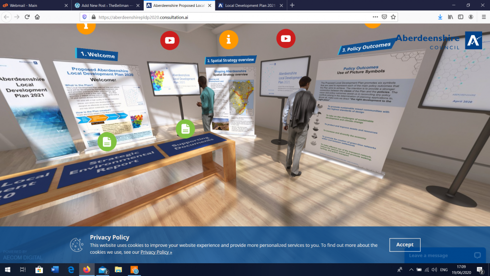 screenshot of virtual consulation
