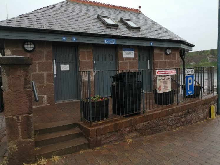 the toilet block at the harbour
