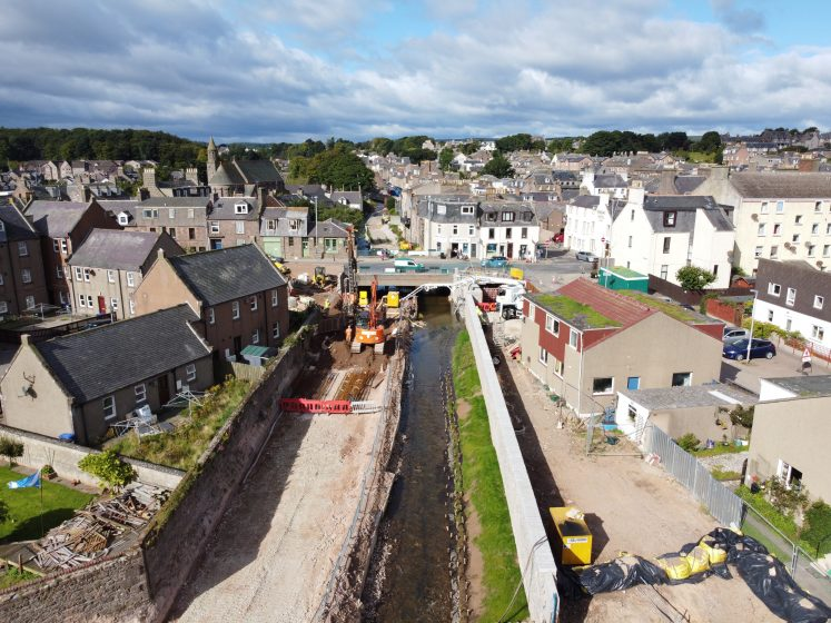 bird's eye view of Carron from Estuary to upriver