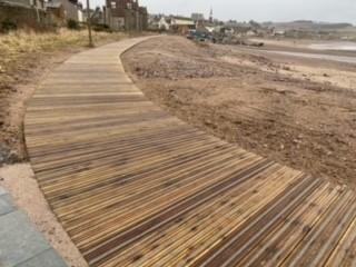 sweeping curve of new boardwalk