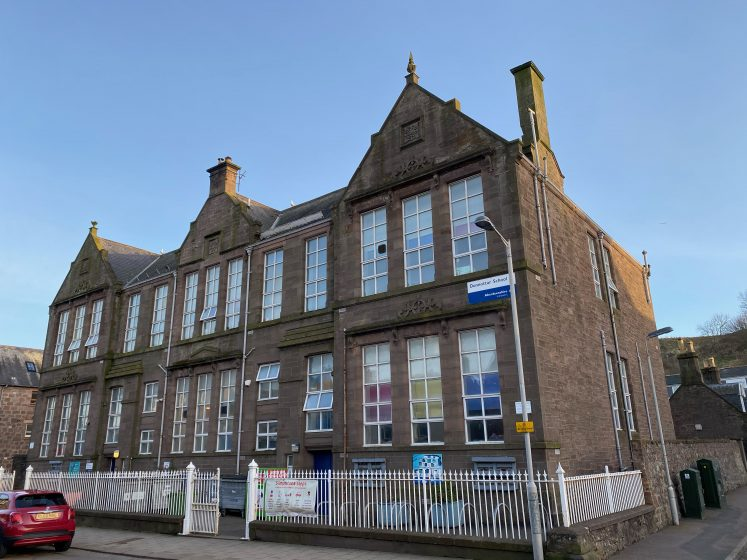 The familiar Victorian frontage of Dunnottar Primary