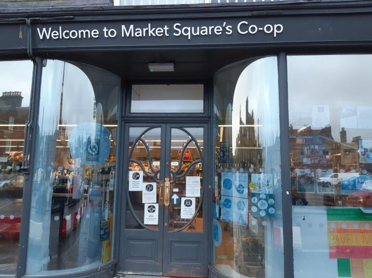 front door of market square coop
